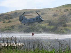 Marine Corps helicopter fire fighting training, Camp Pendleton, May 13th, 2010