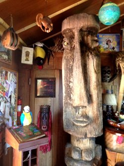 Matt Reese's tiki is one of his most prized possessions, in San Diego, Aug. 11, 2012.