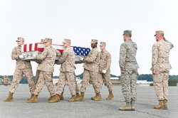 Dignified transfer at Dover AFB of Staff Sgt. Scott Dickinson