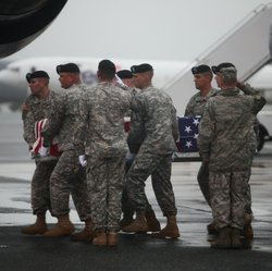 Dignified transfer at Dover AFB for Staff Sgt. Jessica Wing