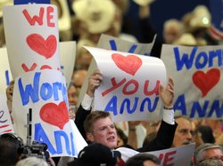 Delegates showed their love for Ann Romney at the Republican National Convent...