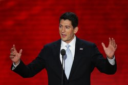 Republican vice presidential candidate, U.S. Rep. Paul Ryan (R-WI) speaks dur...