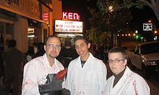 """Repo"" with shadowcast and some costumed attendees."