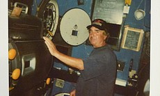In the projection booth at the Ken. (18754)