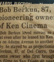 Obituary on Ken owner Bob Berkun.
