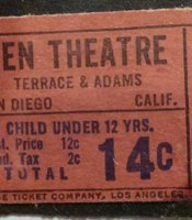 Ken Cinema ticket stub.