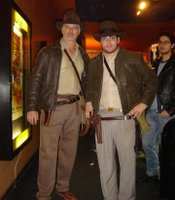 Raiders cosplay at midnight show.