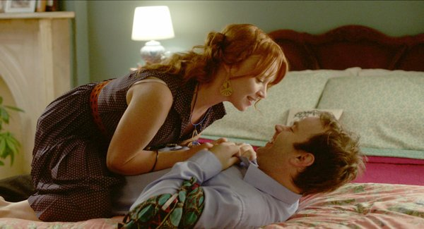 "Mike Birbiglia and his gorgeous co-star, Lauren Ambrose, in ""Sleepwalk With Me."""