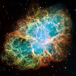 Hubble image of the Crab nebula.