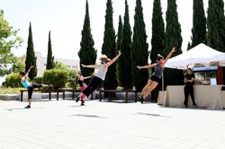 Dancers from The PGK Project rehearse for the garden performances they'll give on Friday and Saturday night outside the art fair.