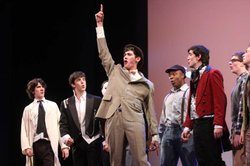 Drew Shafranek's (center) performance in BROADWAY OR BUST.