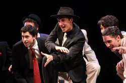 Nicholas Wetherbee's (center) performance in BROADWAY OR BUST.