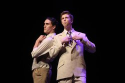 Tyler Eisenrich's (right) performance in BROADWAY OR BUST.
