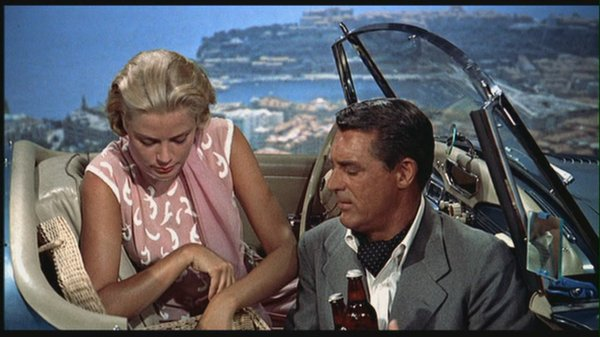 "Grace Kelly and Cary Grant in Alfred Hitchcock's ""To Catch A Thief."""