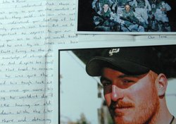 Mementos of Army Spc. Jamie Dalton, who committed suicide