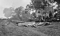 Burial of Federal dead at Fredericksburg, Virginia, April 15, 1865.