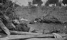 Dead Confederate soldiers at the scene of Ewell... (18967)