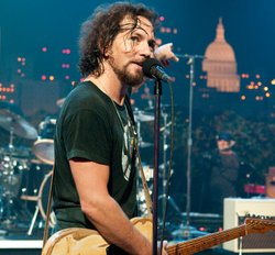 "Classic alternative rockers Pearl Jam, fronted by lead singer Eddie Vedder (pictured), take the AUSTIN CITY LIMITS stage with tunes from their latest album, ""Backspacer,"" as well as catalogue favorites."