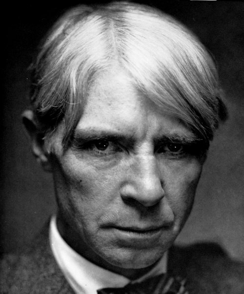 Photograph of Carl Sandburg by his sister-in-law, Dana Steichen.