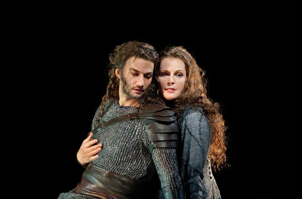 "Jonas Kaufmann as Siegmund and Eva-Maria Westbroek as Sieglinde in Wagner's ""Die Walküre."""