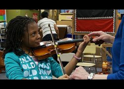 Participant in Baltimore Symphony conductor Marin Alsop's renowned OrchKids Program.