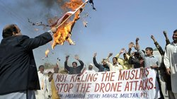 February: A protest in Multan, Pakistan, over the drone attacks