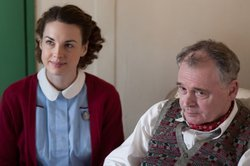 Jessica Raine as Jenny, Sean Baker as Frank in CALL THE MIDWIFE.