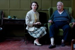 Jessica Raine as Jenny and Roy Hudd as Joe Collett in CALL THE MIDWIFE.