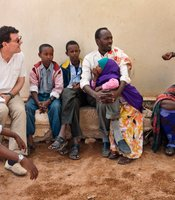 Nicholas Kristof talks with locals in Somaliland.