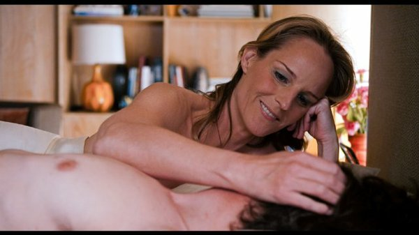 "Helen Hunt and John Hawkes as Cheryl and Mark during sex therapy in, ""The Sessions."""