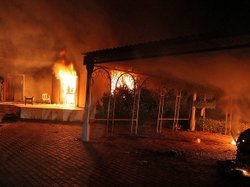 Sept. 11, 2012: A blaze erupted during the attack on the U.S. consulate in Be...
