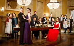 The cast of MASTERPIECE CLASSIC: UPSTAIRS DOWNSTAIRS, Season 2. The saga cont...