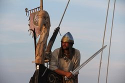 Re-enactor - the Vikings conquered vast areas in Europe, and extended their r...