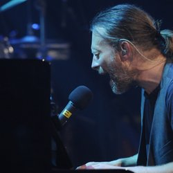 "Singer Thom Yorke of Radiohead. Alt rock icon Radiohead takes the AUSTIN CITY LIMITS stage, performing songs from its Grammy-nominated LP ""The King of Limbs."""