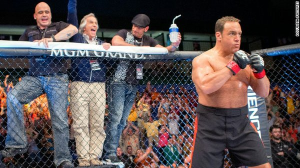 High school teacher and part time MMA fighter Scott Moss (Kevin James), cornered by MMA stars Bas Rutten and Mark DeLagrotte, and overly excited music teacher Marty Streb (Henry Winkler).