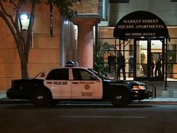 Officers went to a six-story residential complex just south of Horton Plaza S...