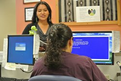 Carmen Bia asks for more information about the Navajo Birth Cohort Study at t...