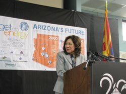 Labor Secretary Hilda Solis spoke at Estrella Mountain Community College on Oct. 15.