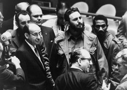 Fidel Castro at a meeting of the United Nations General Assembly in 1960.