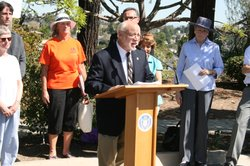Jay Powell, of the San Diego Sierra Club, joined other environmentalists and ...