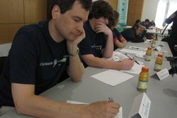 David Pogue tests his memory at the 2012 USA Memory Championship.