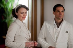 Keeley Hawes as Lady Agnes Holland and Michael Landes as Casper Landry.