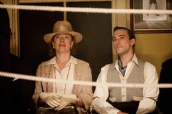 Alex Kingston as Dr. Blanche Mottershead and Blake Ritson as the Duke of Kent...