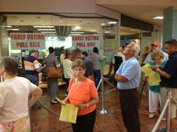 Early voting began Monday in Texas.
