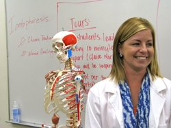 SDSU doctoral student Brittany Pogue says being a physical therapist is her dream job.