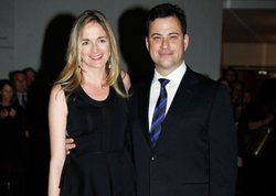 Molly McNearney and Jimmy Kimmel.