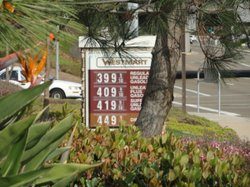 Gas Price at Carlsbad Gas Station