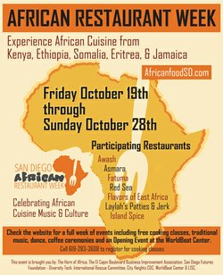 Flyer for African Restaurant Week.