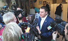 Mayoral candidate Carl DeMaio talks to reporter... (19999)