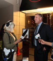 Congressional candidate Scott Peters (D) speaks with reporters at the Westin Gaslamp, November 6, 2012.
